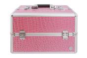 Beauty Boxes San Remo Pink Croc Cosmetics and Make up Case