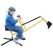 Sand Digger Metal Sand Pit Toy Revolves 360° Childrens Kids