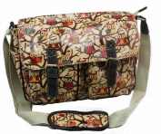 D Fashion® Designer Oilcloth Owl Print Satchel Messenger Bag Crossbody Shoulder Bag