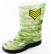 Boys Kids Tough Durable PVC Camoflauge Design Welly Wellington Boots 63547