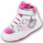 New Girls Hello Kitty Cartoon Character Hi-Top Trainer Trainer Boot Shoe 61486