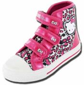 Girls Kids Hello Kitty Cartoon Character Peony Summer Canvas Boot 61451