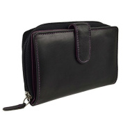 Ladies Medium Smooth LEATHER Zipped PURSE/WALLET by Golunski; Zen Collection