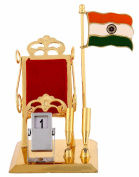 Rajrang Decoretive Painted Gold Plated Brass Mobile Holder