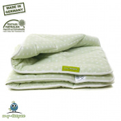 my-teepee soft and thick play mat / blanket, green with white dots, cover 100% cotton Oekotex 100, made in Germany