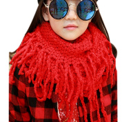 EUBUY Fashionable Autumn Winter Baby Kids Toddler Knit Warmer Tassels Neck Scarf Circle Loop Round Scarves Shawl