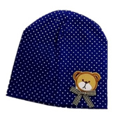 BuyHere Unisex Baby Bear Labelling Hats,RoyalBlue