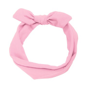 MultiWare Rabbit Ear Hair Bands Women Headbands Pink