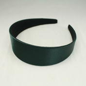 "Annielov 40mm (1 1/2"") Plastic headband covered with Satin Silk fabric Wide Headbands Hair accessories Alice band - Khaki"