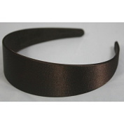 """Annielov 40mm (1 1/2"""") Plastic headband covered with Satin Silk fabric Wide Headbands Hair accessories Alice band - Brown"""