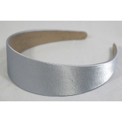 """Annielov 40mm (1 1/2"""") Plastic headband covered with Satin Silk fabric Wide Headbands Hair accessories Alice band - Grey"""
