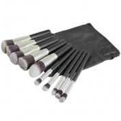 KurtzyTM 10 Piece Make Up Round Topped Brushes In Storage Pouch
