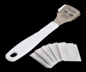 Care Foot tools to remove the dead skin Pedicure knife with 10 blades