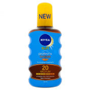 NIVEA Protect and Bronze Tan Activating Protecting Oil Number 20, Medium - 200 ml