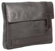 Uberbag Trooping The Colour Grey Black Leather Military Men Clutch