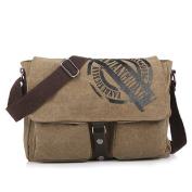 Lazutom Unisex Vintage Traval Shoulder Bag Cross Body Satchel Bag