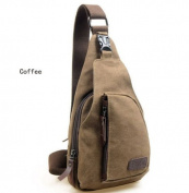 WorldFree(TM) Men's Small Canvas Military Messenger Shoulder Travel Hiking Bag