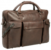 Uberbag Insignia Brown Leather Portfolio Messenger Bag