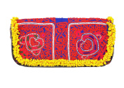 Rawyal-Multicoloured Banjara Designer Clutch, Handmade Beaded Vintage Zari Clutch