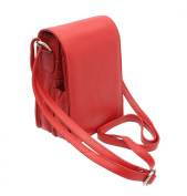 Mala Leather ANISHKA Collection Leather Organiser Shoulder Bag 773_75 Red