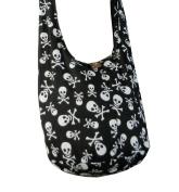BTP! Skull Hippie Hobo Thai Cotton Sling Crossbody Bag Messenger Purse Small
