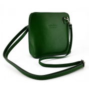 Woman Shoulder Leather Bag Green - Genuine Leather Bags Made In Italy - Woman Bag