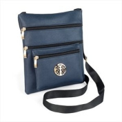 Blue and gold colour design motif hip bag.