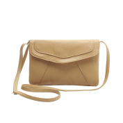 Chnli New Fashion Women Simple PU Leather Casual Crossbody Satchel Shoulder Handbag Messenger Bag