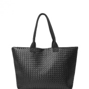 Chnli 2015 Hot Fashion Women Plain PU Leather Grid Pattern Large Capacity Casual Handbag Shoulder Bag Lady Tote Purse