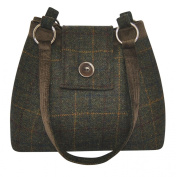 Tweed Handbag Fairtrade by Earth Squared Ava Brown