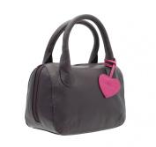 Mala Leather ANISHKA Collection Leather Grab Bag 774_75 Plum