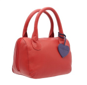Mala Leather ANISHKA Collection Leather Grab Bag 774_75 Red