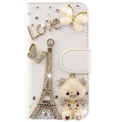 Beiuns Wallet Leather Case for Galaxy Core Plus(G3500) Cover - X101 Effiel bear butterfly