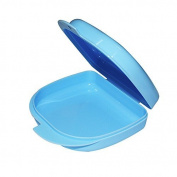Denshine Dental Orthodontic Retainer Box Case for Dentures Sport Guard Brace Teeth Blue