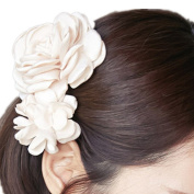 Cuhair(tm) 1pcs Large Two Rose Design Hair Clip Barrette Hair Pin Accessories for Women Girl Baby