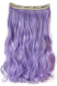 PRETTYSHOP 60cm Clip In Hair Extensions Hairpiece Curled Wavy, Colourful, Full Head Heat-Resisting Different Colours