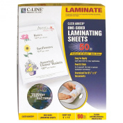 C-Line Antimicrobial Protected Cleer Adheer Laminating Film Sheets, Clear, 23cm x 30cm , 50 per Box