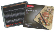 Derwent Tinted Charcoal Pencils Tin