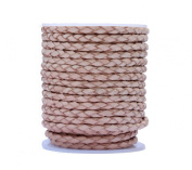 Bolo Leather Cord, 10 Metres Spool, 3.0 Millimetre Natural