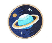 Embroidered Sew or Iron-on Backing Patch Yoga Space Explorer Time Traveller Camp Galaxy Planet Bear Bike Camera