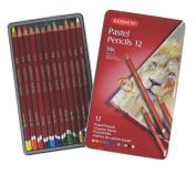 Derwent Pastel Pencils, 4mm Core, Metal Tin, 12 Count