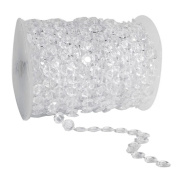 30m Clear Crystal Like Beads by the roll - Wedding Decorations - 1Roll