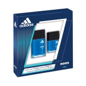 Adidas Fragrance 2 Piece Set Moves for Him 30ml Eau de Toilette Spray + 15ml Eau de Toilette Spray