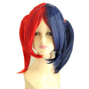 Xcoser Harley Red Blue Cosplay Wig Hair For Cosplay Costume Accessories