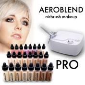 Aeroblend Airbrush Pro Starter Kit / Professional HD airbrush 24 airbrush starter makeup kit
