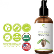 RejuveNaturals Virgin Moroccan Argan Oil - 100% Pure and Certified Organic (120ml) for Face, Hair, Skin and Nails