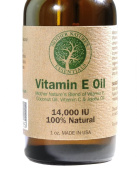 Vitamin E Oil 100% NATURAL & PURE by Mother Nature's Essentials 30ml Vitamin E Oil 14000 IU + Jojoba Oil + Vitamin C + Coconut Oil. Unscented. Unique Formula of Natural Nourishing Oils Known to Assist in Diminishing Fine Lines, Wrinkles, Moisturise the ..
