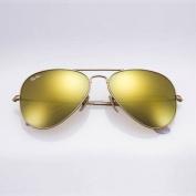 Ray-ban Original RB3025 112/93 Aviator Non-polarised Sunglasses, Matte Gold Frame/ Gold Mirror Lens,