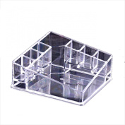 Ularmo Crystal Clear Makeup Cosmetic Case Organiser Lipstick Jewellery Storage