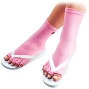 Pedisavers Toe Separator Pedicure Socks, Pink